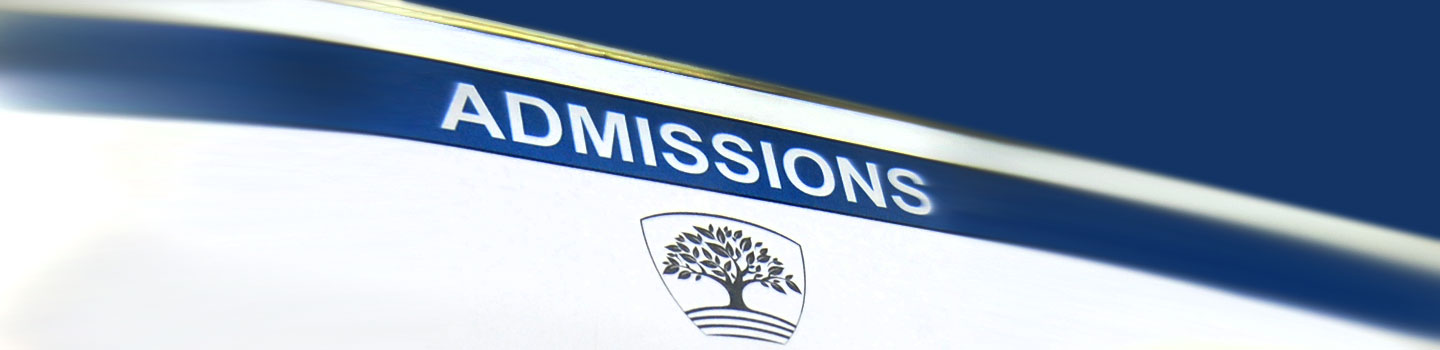 Admissions Pageheader